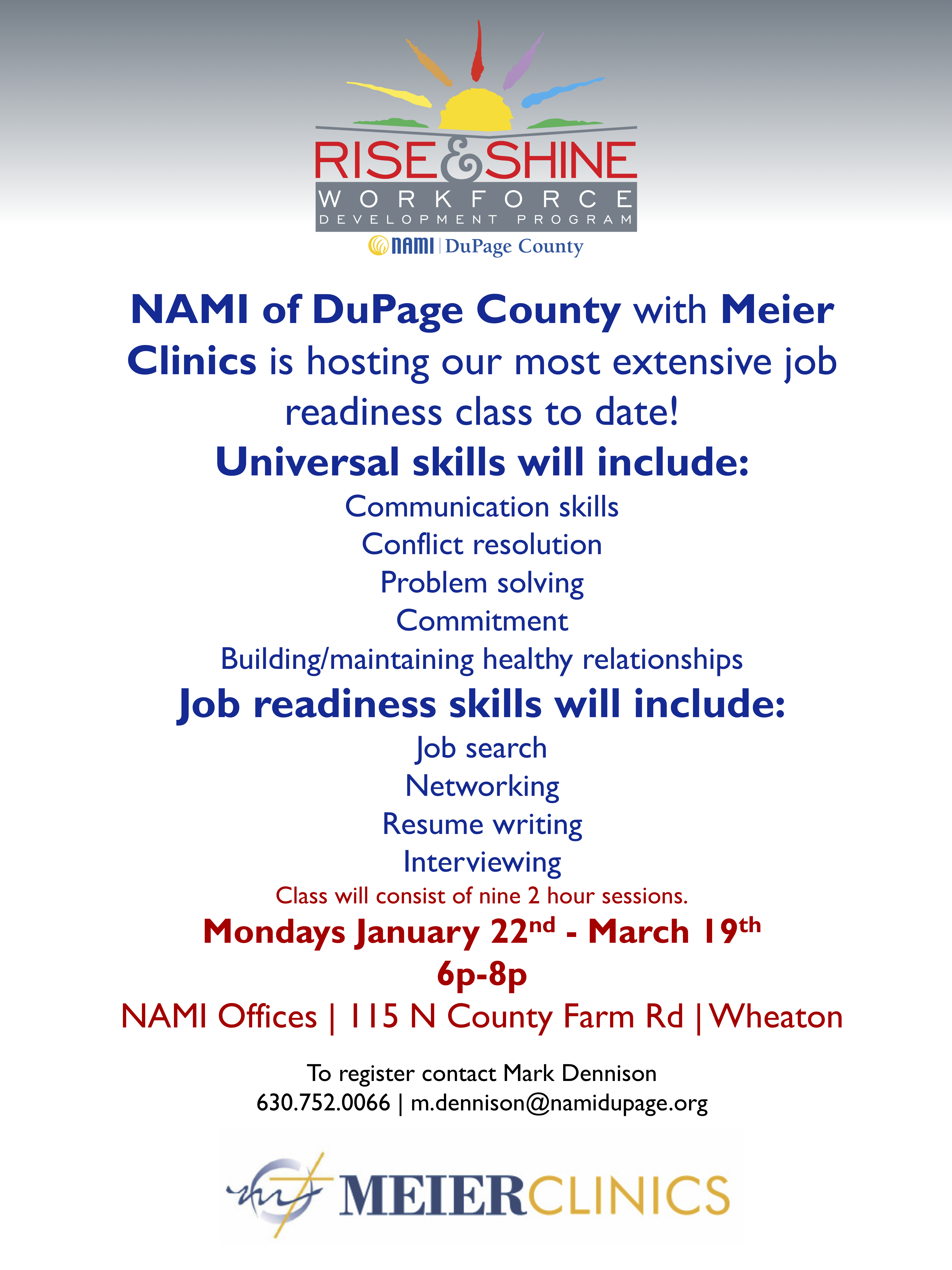 Workforce Development Program | NAMI of DuPage County, IL